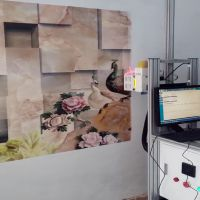 3D墙体喷绘机 背景墙打印机机文化墙数码印刷机家用小型彩绘机