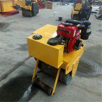 厂家手扶大单轮压路机 手扶路面压路机 沟渠回填整平压实机