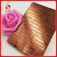 钛金不锈钢板厂家_不锈钢红古铜腐蚀板