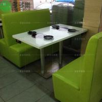 酒店大理石实木火锅店桌椅 火锅桌子去到哪里可以批发定做多少钱