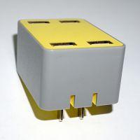 多功能直充插头 4USB接口充电器插头 手机通用美规插头