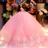 婚纱娃娃套装礼盒单个大厘米拖尾女孩公主儿童玩具洋娃娃生日礼物