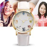 速卖通热卖 OKTIME 清新时尚简约猫咪儿童手表 男表女表学生手表