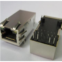 供应兴伸展电子1000BASE RJ45水晶头/网络连接器插座/1000M数据传输军工级产品