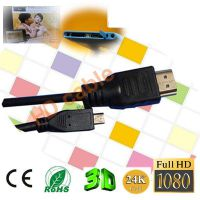 1.5M Micro hdmi转hdmi线 手机微型HDMI输出连接电视高清线