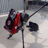 汽油脚踏式地钻机 葡萄园专用挖坑机 埋桩打眼挖坑机