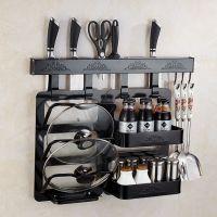 新尼诗太空铝打钉式黑钛欧式印花厨房挂件