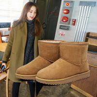 清仓   白鹿大人女式棉鞋套脚韩版保暖纯色雪地靴工厂直销招代理