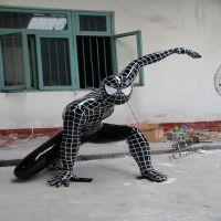 玻璃钢人物雕塑 玻璃钢蜘蛛侠人物雕塑 户外广场人物雕塑