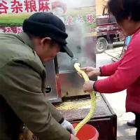 车载流动型玉米膨化机/昊铭/康乐果膨化机/江米棍机教程视频
