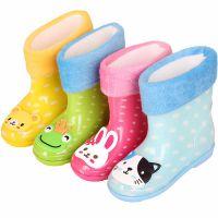 儿童雨鞋小孩水鞋 加绒雨靴防滑卡通pvc雨鞋  厂家直销
