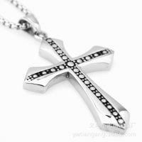 ebay亚马逊速卖通货源 不绣钢男士钛钢十字架吊坠 厂家直销饰品