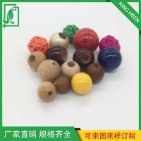 厂家直销佛珠手链定制木圆球工艺品家居装饰品木制手链中式摆件