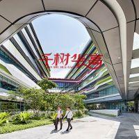 科技与设计大学外墙白色绿色造型铝单板铝合金2.0mm厚订做