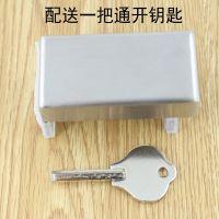 免铝合金平移窗锁打孔门窗防盗锁扣推拉窗户限位器安限位器固定