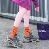 新品秋冬潮牌袜子女欧美街头嘻哈运动袜子原宿中筒棉袜字母滑板袜