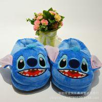 厂家批发史迪仔卡通拖鞋兔子韩版棉鞋包跟女居家海绵宝宝冬季毛拖