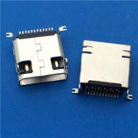 三星12P母座MINI USB 12P前插后贴SMT L=9.2mm配套三星12P公头 usb连接器