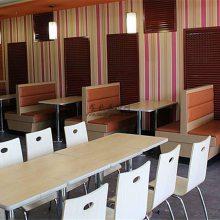时尚快餐厅家具配置方案,快餐厅桌椅如何选择