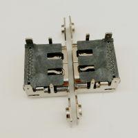 HDMI 19PIN母座 带双耳螺丝孔 90度插板DIP 有后盖 HDMI高清接口-创粤