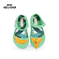 新款包头童鞋女夏季卡通香蕉搭扣童凉鞋塑胶鞋沙滩鞋防滑中小童