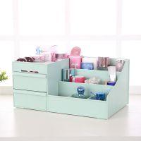 桌面抽屉式收纳盒化妆盒塑料家用多功能储物盒首饰盒办公桌收纳盒