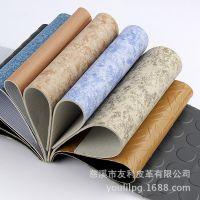浙江厂家PVC地板革 数码印花仿牛皮手袋箱包皮压花皮革 批发