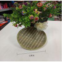 手工竹编竹制圆型青竹盘DIY手工制作绘画涂色 教室布置 挂饰饰品