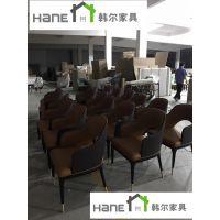 韩尔餐饮定制家具 上隐水产海鲜自助餐厅桌椅 HR-124餐厅桌子椅子定制工厂