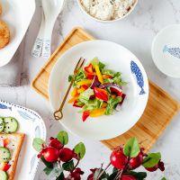 陶瓷卡通餐具卡通鱼餐具碟碗盘子泡面碗汤碗吃饭碗米饭碗盖子调味