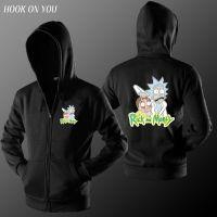 瑞克和莫蒂/Rick and Morty/美剧动画片周边/开衫连帽长袖卫衣