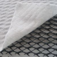 垃圾场6mm三维复合排水网 边坡导流二维排水塑料pvc土工复合排水网