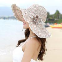 夏帽子女 遮阳帽厦天 防晒女士沙滩女生旅游海边薄款小清新防晒帽