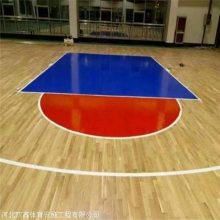 室内篮球馆专用木地板 是篮球馆必备的地面材料