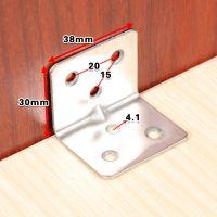 加厚不锈钢角码三角支架固定角铁桌椅90度直角家具五金连接件配件