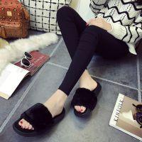 毛毛鞋情侣棉拖鞋女冬季 舒适保暖棉鞋家居室内外穿厂家直销批发