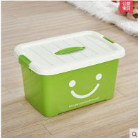 一件代发收纳箱透明塑料衣服储物箱子桌面杂物整理盒衣柜书箱