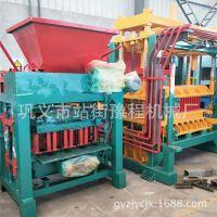 厂家直供4-2B型空心水泥砖机半自动液压植草砖机小型水泥砌块机