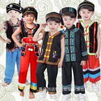 六一儿童少数民族表演服苗族舞蹈服幼儿壮族彝族演出服装女童云南