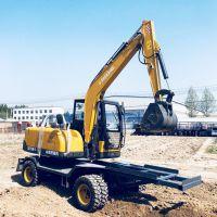 山西专供国产小型轮式挖掘机图片价格 胶轮挖机价格低