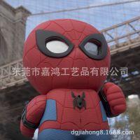 厂家现货批发搪胶摆件 红色蜘蛛侠立体室外底座摆件 PVC塑胶玩具