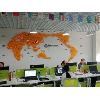 学校大厅形象墙装饰 学校对外招生KXDZ立体世界地图电子显示屏
