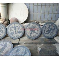 石雕浮雕 青石十二生肖整套大理石方形工艺品雕塑 室内外装饰摆件