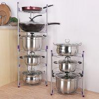 批发 热销 多功能创意家居厨房置物架不锈钢 多层储物收纳架锅架