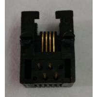 供应兴伸展电子4P4CL18.1mm 4P4C RJ11接口母座53214P4C圆针镀金G/Fu