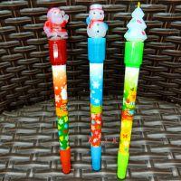 韩版文具圣诞老人创意圆珠笔学生卡通圣诞树雪人造型圆珠笔礼物