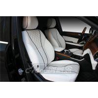 奔驰GL350内饰改装详解 加装隔断吧台升降电视