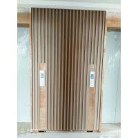 博达商场电梯口装饰木纹长城板-波浪型凹凸铝板 快递交货