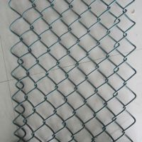 PVC勾花网 运动场防护网 包塑勾花网