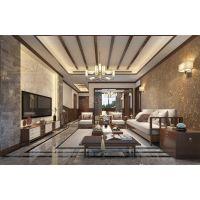 上邦高尔夫国际社区装修设计,江北天古装饰独栋别墅新中式风格案例